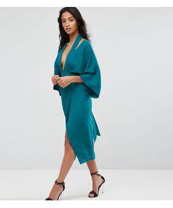 ASOS PETITE | Платье Миди С Широкими Рукавами
