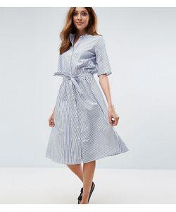 Vero Moda Tall | Платье-Рубашка В Тонкую Полоску С Поясом