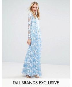 True Decadence Tall | Платье Макси С Объемным Премиум-Кружевом