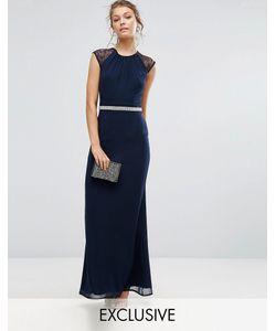 Elise Ryan | Платье Макси С Отделкой И Кружевной Спиной