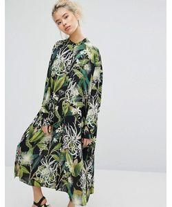 Weekday | Рубашка-Туника С Цветочным Принтом
