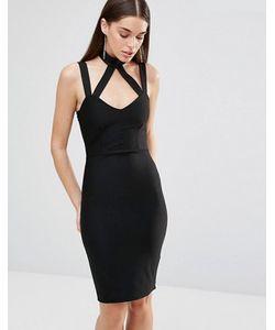 Rare | Облегающее Платье С Перекрестными Лямками