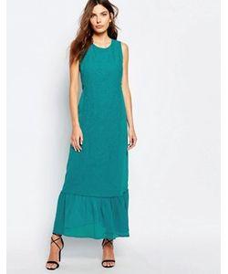 Sisley | Платье Макси С Вышивкой