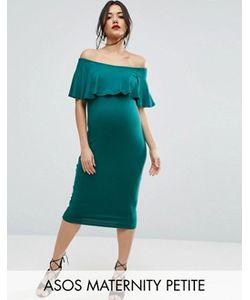 ASOS Maternity | Платье-Футляр Миди С Оборкой Petite