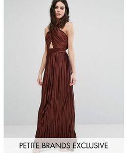 True Decadence Petite | Плиссированное Платье Макси С Перекрестом Спереди И Открытой Спиной True Decadence