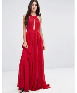 Pixie & Diamond | Платье Макси С Открытой Спиной И Драпировкой Спереди