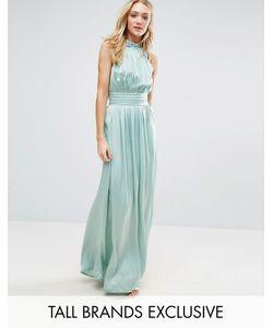 Little Mistress Tall | Плиссированное Платье Макси Для Выпускного С Оборкой