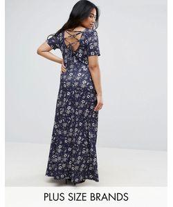 Club L | Платье Макси Со Шнуровкой На Спине Plus