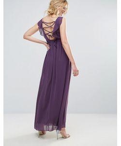 Little Mistress | Платье Макси С Декоративной Отделкой И Поясом