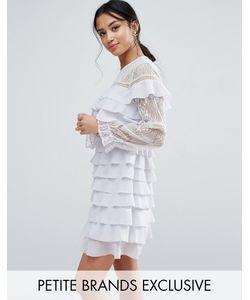 True Decadence Petite | Платье Мини С Кружевом И Оборками