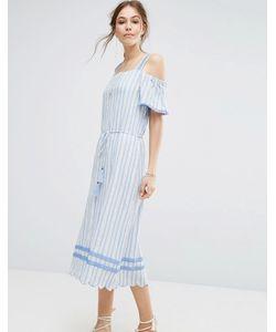 Moon River | Платье С Открытыми Плечами И Отделкой