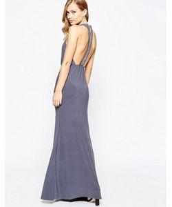TFNC | Платье Макси С Запахом И Т-Образной Вставкой На Спинке