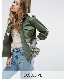 Milk It | Vintage Military Jacket With Frills