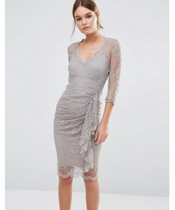 Body Frock | Кружевное Моделирующее Платье С Оборкой Fifi