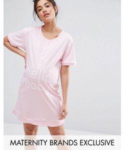 Emma Jane | Ночная Рубашка Для Беременных С Пуговицами Спереди Maternity