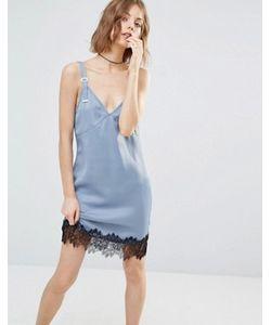 First & I | Платье-Комбинация С Кружевной Отделкой