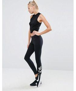 Nike | Черные Леггинсы С Логотипом Цвета Металлик Leg A See