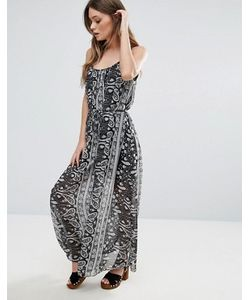 Qed London | Платье Макси С Накладкой С Принтом