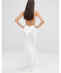 City Goddess | Платье Макси С Бантом И Открытой Спиной