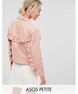 ASOS PETITE | Розовая Джинсовая Куртка С Рюшами На Спине