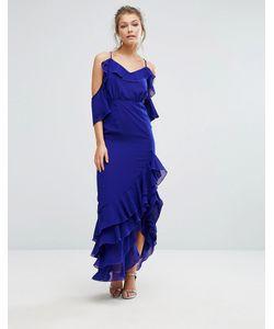 True Decadence | Платье Макси С Открытыми Плечами И Оборкой По Краю