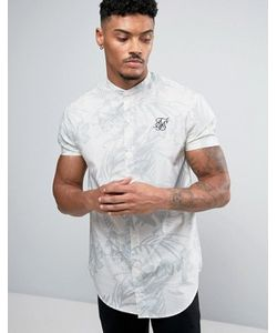 SikSilk | Skinny Fit Shirt In With Print