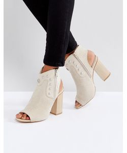 Glamorous   Туфли На Каблуке С Открытым Носком И Заклепками