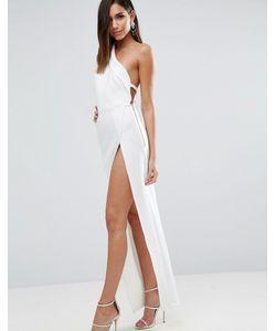 Asos | Платье Макси На Одно Плечо С Броской Молнией