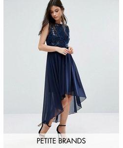 Yumi Petite | Удлиненное Сзади Декорированное Платье