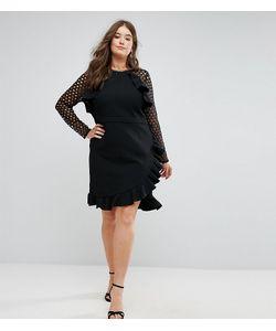 Truly You | Платье С Кружевными Рукавами И Запахом