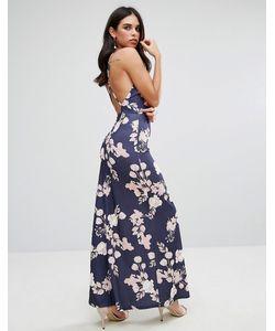 Oh My Love | Платье Макси С Открытой Спиной И Цветочным Принтом