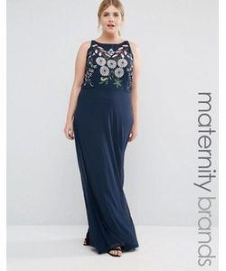 Lovedrobe | Платье Макси С Вышивкой На Лифе Plus