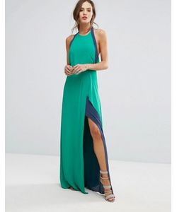 BCBGMAXAZRIA | Длинное Двухцветное Платье Bcbg Maxazria