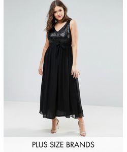 Praslin | Платье Макси С Пайетками На Лифе