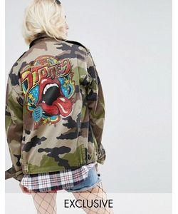 Reclaimed Vintage | Куртка В Стиле Милитари С Принтом На Спине