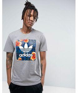 adidas Originals | Футболка С Принтом Листьев Adidas Skateboarding Bj8719