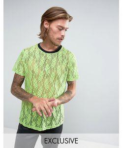 Reclaimed Vintage | Зеленая Кружевная Футболка Inspired