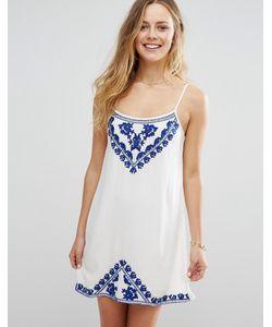 Raga | Платье Мини На Тонких Бретельках С Вышивкой Santorini