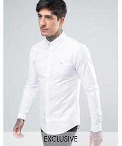 Farah | Белая Оксфордская Рубашка Скинни Эксклюзивно Для