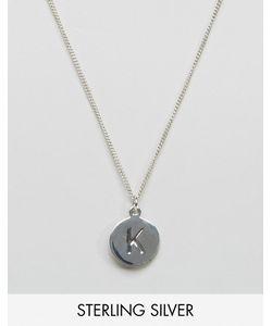 Fashionology   Серебряное Ожерелье С Буквой K