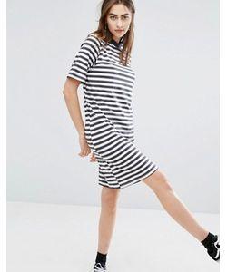 Cheap Monday | Свободное Платье В Полоску С Высоким Воротом