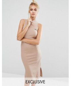 Puma   Платье В Рубчик С Высоким Воротом Эксклюзивно Для
