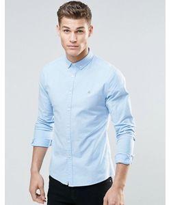 Asos | Голубая Приталенная Оксфордская Рубашка