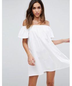 Asos | Платье Мини С Открытыми Плечами