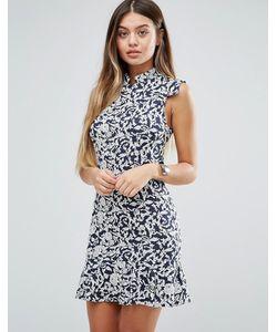 Unique 21 | Цельнокройное Платье С Цветочным Принтом