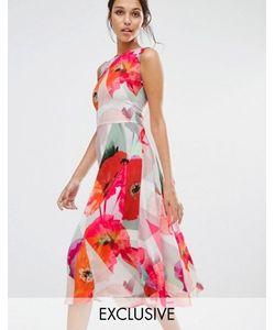 Every Cloud   Платье С Заниженной Талией И Цветочным Принтом