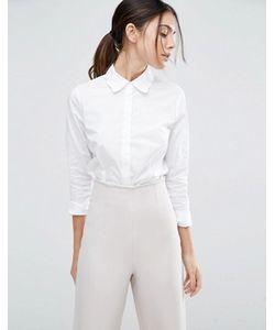Asos | Белая Рубашка С Фигурным Воротником