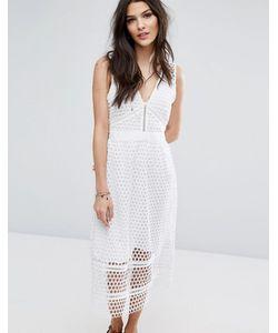 Abercrombie and Fitch | Кружевное Платье Миди С Молнией На Спине Abercrombie Fitch