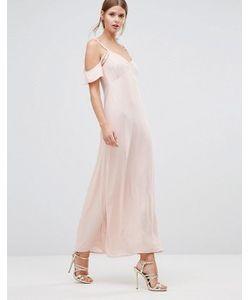 Oh My Love | Платье Макси С Открытыми Плечами И Оборками