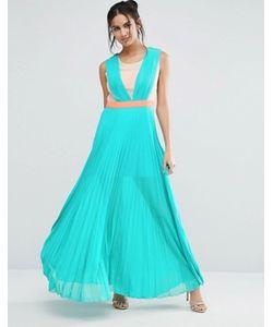 Jovonna | Плиссированное Платье Макси Jovanna Neontown